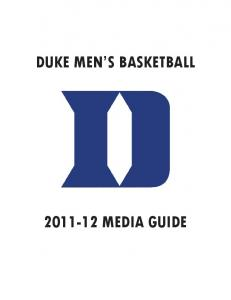 DUKE MEN S BASKETBALL MEDIA GUIDE