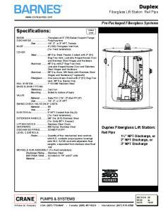 Duplex Fiberglass Lift Station: Rail Pipe