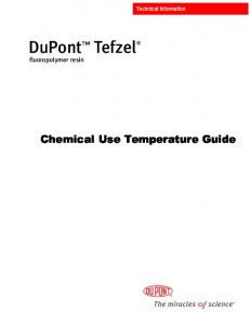 DuPont Tefzel fluoropolymer resin