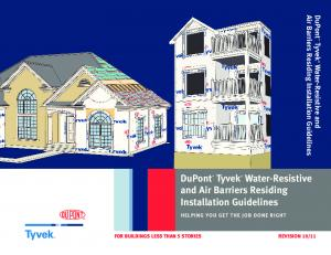 DuPont Tyvek Water-Resistive and Air Barriers Residing Installation Guidelines