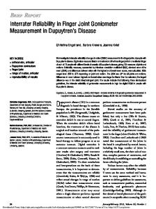 Dupuytren s disease (DD) is a common