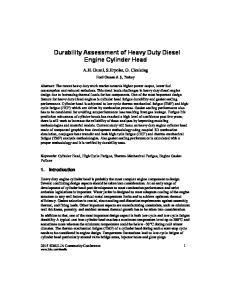 Durability Assessment of Heavy Duty Diesel Engine Cylinder Head