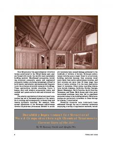 Durability Improvement for Structural Wood Composites through Chemical Treatments