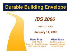 Durable Building Envelope
