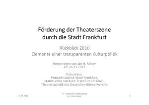 durch die Stadt Frankfurt