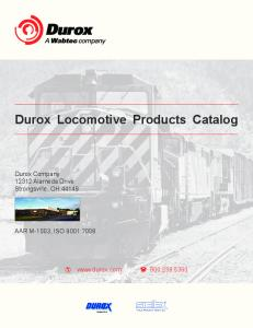 Durox Locomotive Products Catalog