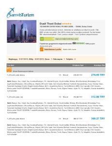 Dusit Thani Dubai 133 SHEIKH ZAYED ROAD, PO BOX 23335, - - DUBAI, Dubai, Dubai
