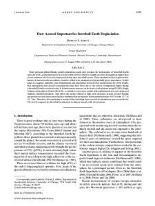 Dust Aerosol Important for Snowball Earth Deglaciation