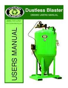 Dustless Blaster DB3000 USERS MANUAL (800) USERS MANUAL