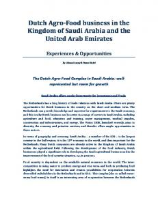 Dutch Agro-Food business in the Kingdom of Saudi Arabia and the United Arab Emirates