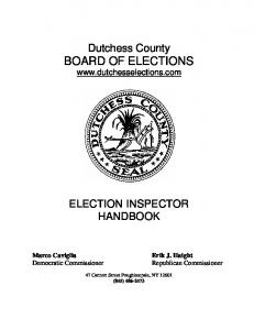 Dutchess County BOARD OF ELECTIONS