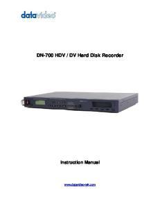 DV Hard Disk Recorder