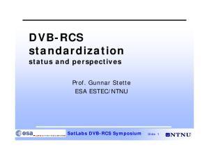 DVB-RCS standardization