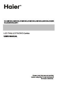 DVD Combo USER MANUAL