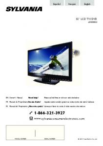 DVD LD 320SS2. Please call toll free or visit our web site below