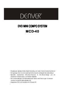 DVD MINI COMPO SYSTEM MCD-40