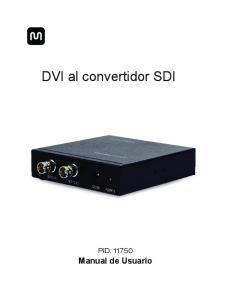 DVI al convertidor SDI