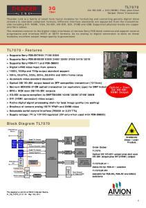 DVI Tx. HDMI connector. Optical HD- SDI Output LC - connector