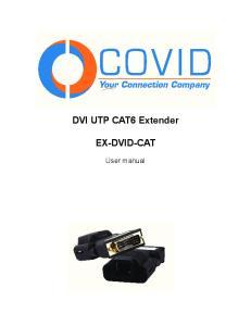 DVI UTP CAT6 Extender EX-DVID-CAT