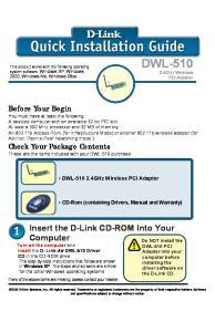 DWL GHz Wireless PCI Adapter