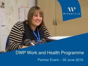 DWP Work and Health Programme