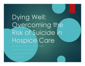 Dying Well: Overcoming the. Hospice Care DR. BRYAN MCNUTT, PHD, LMFT HOSPICE EDUCATOR SILVERADO HOSPICE SAN DIEGO, CA