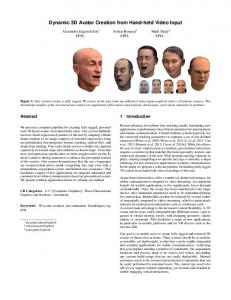 Dynamic 3D Avatar Creation from Hand-held Video Input