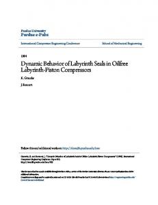 Dynamic Behavior of Labyrinth Seals in Oilfree Labyrinth-Piston Compressors