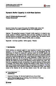 Dynamic Buffer Capacity in Acid Base Systems
