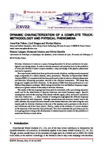 DYNAMIC CHARACTERIZATION OF A COMPLETE TRUCK: METHODOLOGY AND PHYSICAL PHENOMENA