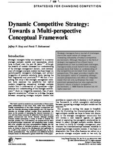 Dynamic Competitive Strategy: Towards a Multi-perspective Conceptual Framework
