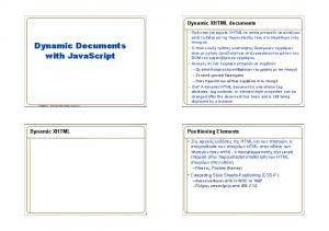 Dynamic Documents with JavaScript