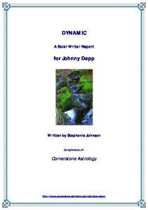 DYNAMIC. for Johnny Depp