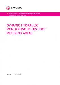 DYNAMIC HYDRAULIC MONITORING IN DISTRICT METERING AREAS