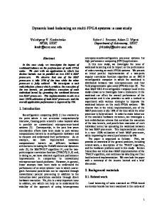 Dynamic load-balancing on multi-fpga systems: a case study
