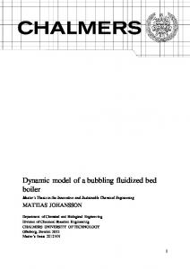 Dynamic model of a bubbling fluidized bed boiler