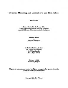 Dynamic Modeling and Control of a Car-Like Robot