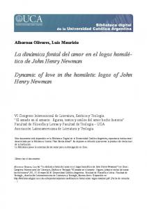 Dynamic of love in the homiletic logos of John Henry Newman