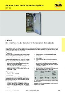 Dynamic Power Factor Correction Systems in sheet steel cabinets