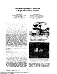 Dynamic Registration Correction in Augmented-Reality Systems