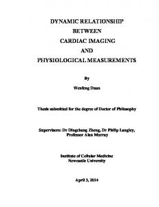 DYNAMIC RELATIONSHIP BETWEEN CARDIAC IMAGING AND PHYSIOLOGICAL MEASUREMENTS