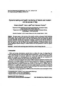 Dynamic testing and health monitoring of historic and modern civil structures in Italy