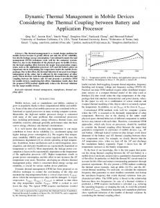 Dynamic Thermal Management in Mobile Devices Considering the Thermal Coupling between Battery and Application Processor