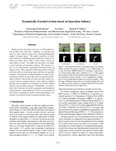 Dynamically Encoded Actions based on Spacetime Saliency