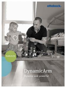 DynamicArm. Dynamic and powerful. Information for Enduser