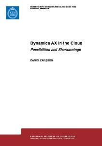 Dynamics AX in the Cloud