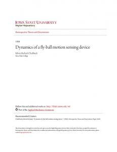 Dynamics of a fly-ball motion sensing device