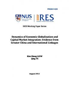 Dynamics of Economic Globalization and Capital Market Integration: Evidence from Greater China and International Linkages