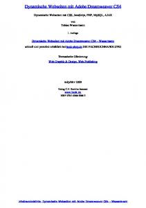 Dynamische Webseiten mit Adobe Dreamweaver CS4