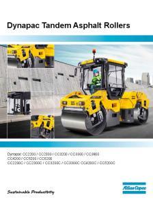 Dynapac Tandem Asphalt Rollers